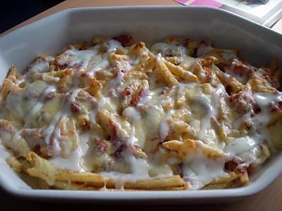 Recette de frites aux 4 fromages - Temps de cuisson tartiflette ...