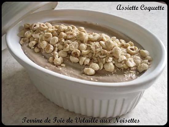 recette Terrine de Mousse de Foie de Volaille aux Noisettes