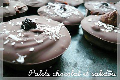 recette Palets chocolat fourrés salidou