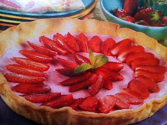 recette tarte mousse de fraises
