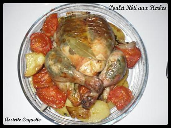 recette Poulet rôti aux herbes