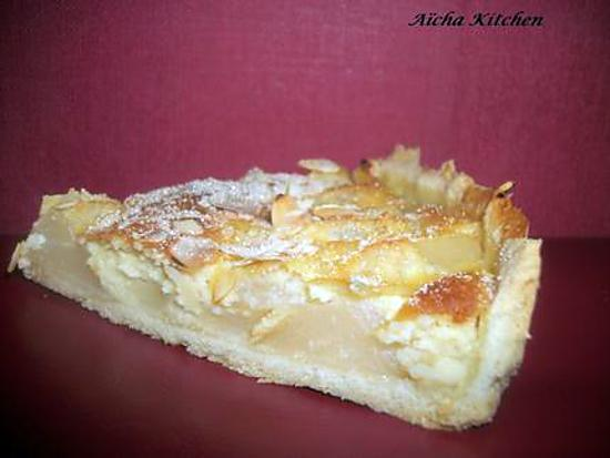 recette de tarte amandine aux poires par aichakitchen. Black Bedroom Furniture Sets. Home Design Ideas