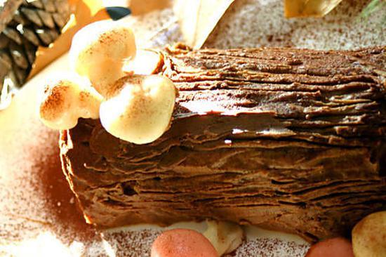recette Bûche de Noël Framboise-Chocolat