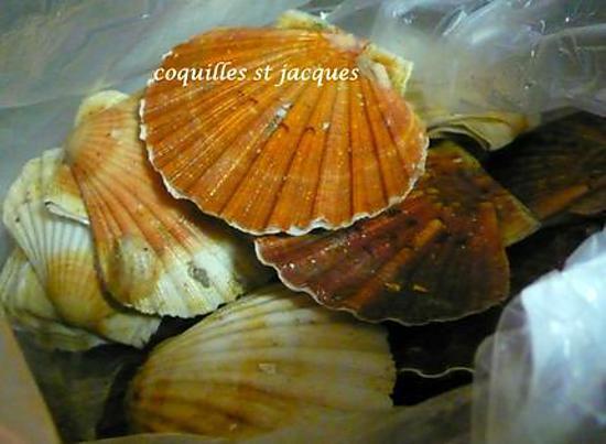 recette Coquilles st Jacques flambé au grand marnier, et à l'orange