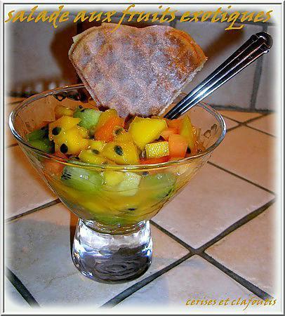 recette salade de fruits exotiques au miel