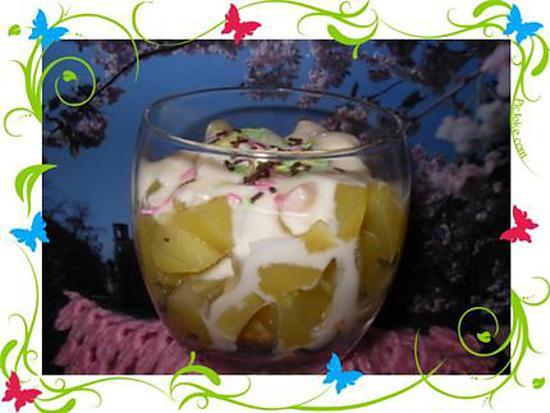 recette verrines de pommes