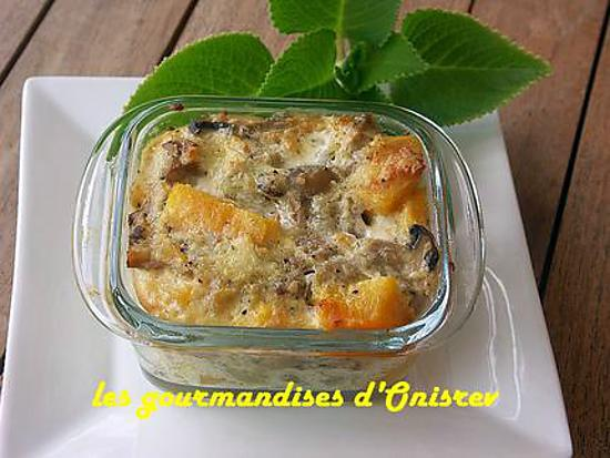 recette de gratin potimarron champignons. Black Bedroom Furniture Sets. Home Design Ideas
