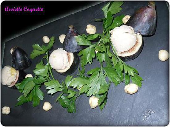 recette Foie Gras, Figue et Noisette