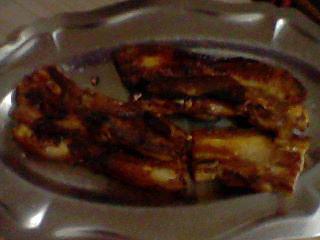 recette Poitrine de porc au miel!
