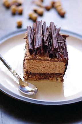 recette ENTREMET CHOCOLAT AU LAIT/ GIANDUJA.....