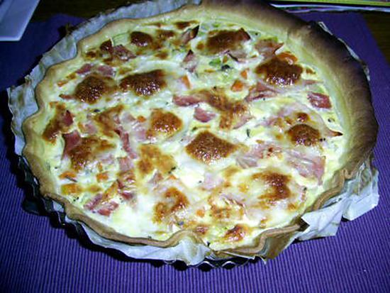 recette Quiche aux légumes et aux 2 fromages