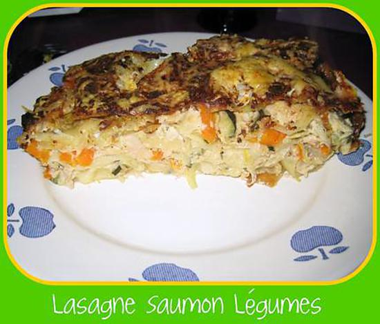 recette de lasagne au saumon l gumes. Black Bedroom Furniture Sets. Home Design Ideas