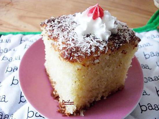 Recette de basboussa g teau fondant la noix de coco for Amour de cuisine basboussa