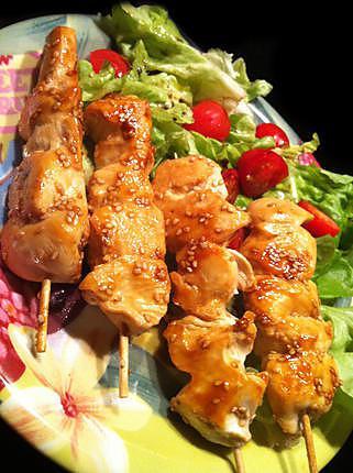 Poulet yakitori (japonais)   Recette   Recettes de cuisine