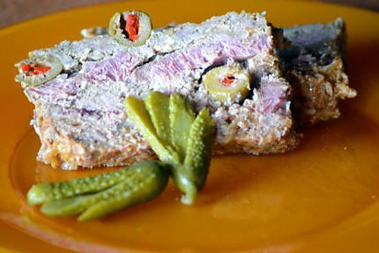 recette Terrine de petit salé aux olives