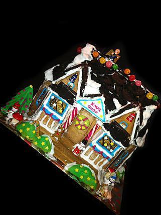 recette Gingerbread Xmas Shop ! (Cabane en pain d'épices de Noël)