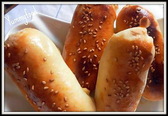 Recette de petits pains farcis la viande hach e de dinde pic e - Recette pain levure chimique ...