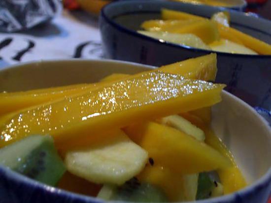 recette Salade de fuits à l'aloe vera