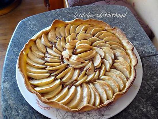 recette tarte aux pommes et spéculoos