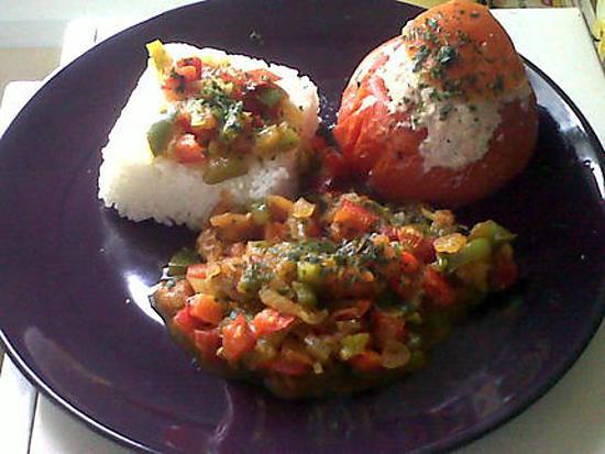 recette Tomate farcie et sa compoté de légumes