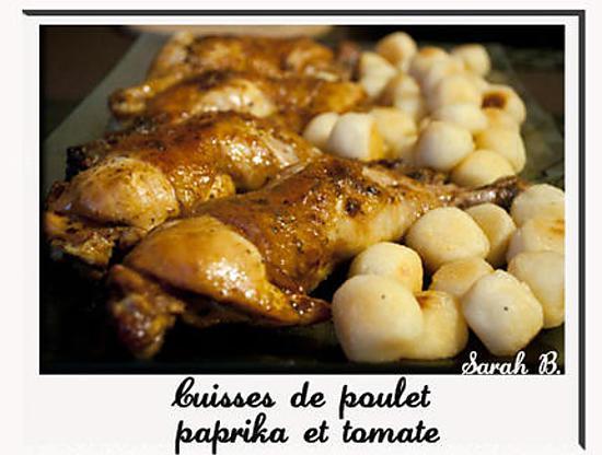 recette Cuisses de poulet paprika et tomate