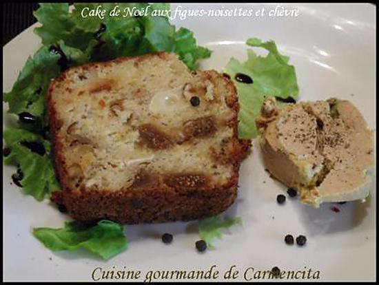 recette Cake de Noël aux  figues-noisettes et chèvre