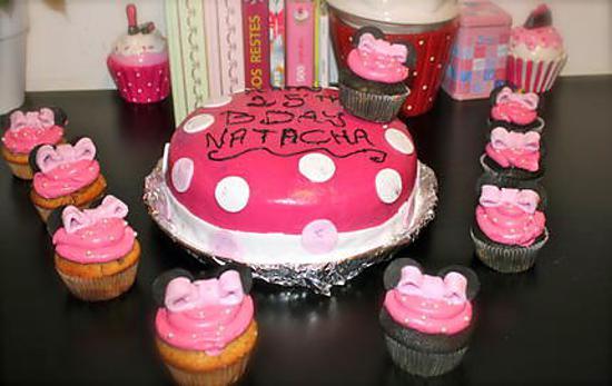 recette Gâteau très girly et son armée de Minnie Mouses - Mon premier gâteau à thème