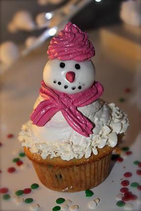 recette cupcake Bonhomme de Neige (Noël)