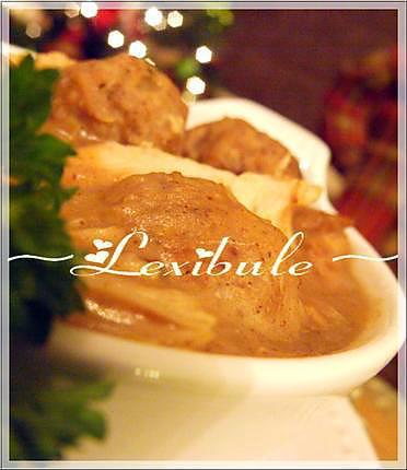 recette Ragoût de pattes et de boulettes de viande