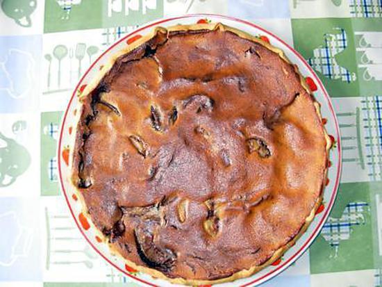 recette tarte à la frangipane poires chocolat