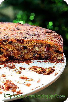 recette Gâteau à la carotte et aux fruits sec