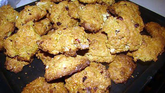 recette Biscuits aux canneberges glacés à l'orange