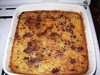 recette clafoutis aux poires et aux pépites de chocolat