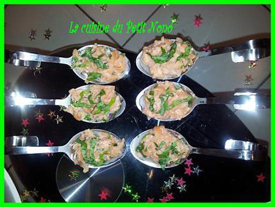 recette Cuilléres de Tartare de Saumon Cru