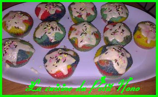 recette Cupcakes Multicolore !!!