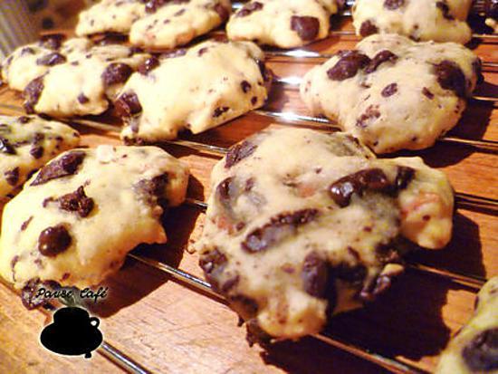 recette Cookies amandes, pépites de chocolat et miel
