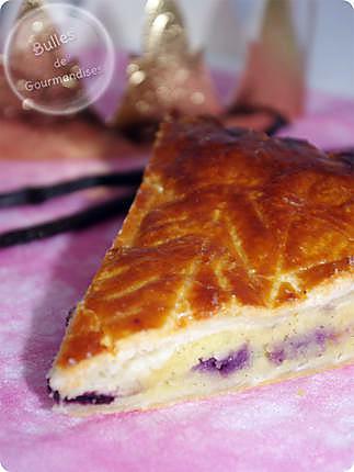 recette Galette des Rois vanille, myrtilles… le duo parfait !