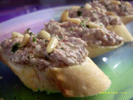 recette tartines de sardines au kiri (tapas)
