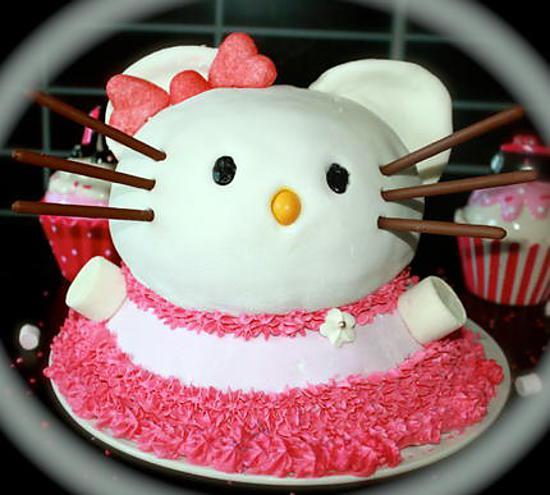 """recette Gâteau 3D """"Hello Kitty"""""""