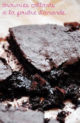 recette Brownies collants à la poudre d'amande
