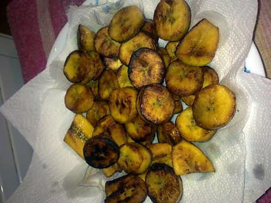 Gateau a base de banane plantain