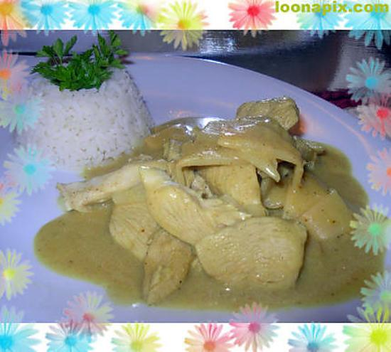 Recette Land Recette De Emince De Poulet Curry Coco Sur Les Foodies