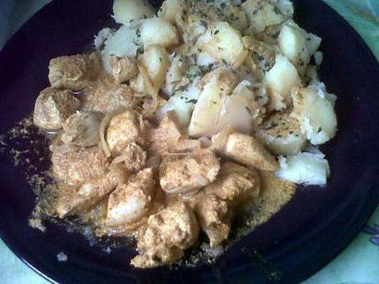 recette Poulet tandoori et pommes de terre en vrac