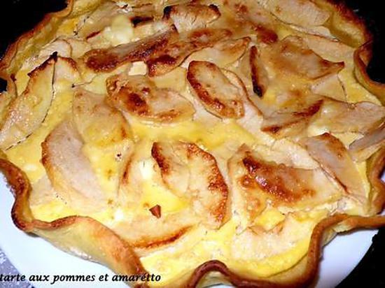 recette tarte aux pommes et amaretto