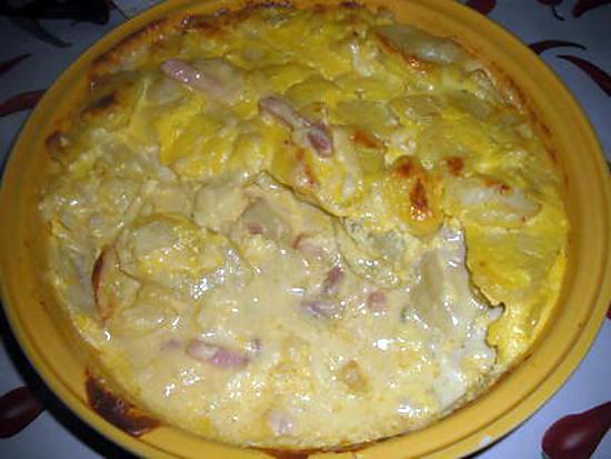 recette Gratin de pomme de terre au morbier