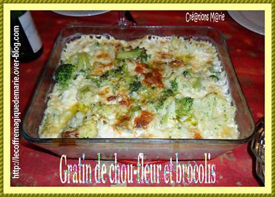 recette GRATIN DE CHOU-FLEUR ET BROCOLIS (à ma façon)