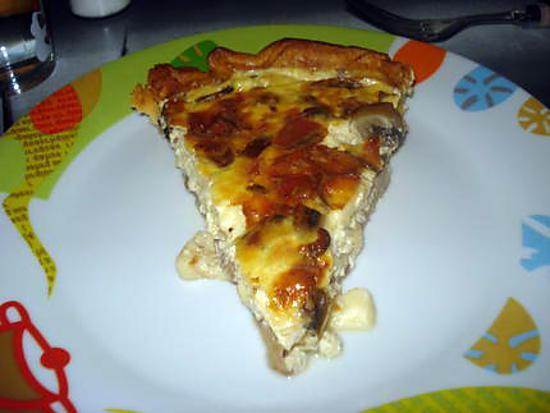 recette de tarte aux champignons et aux 3 fromages. Black Bedroom Furniture Sets. Home Design Ideas