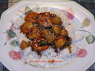 recette Crevettes et pétoncles Géneral Tao