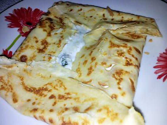 recette Les bonnes crépes salé au jambon et roquefort de belle maman pour la chandeleur