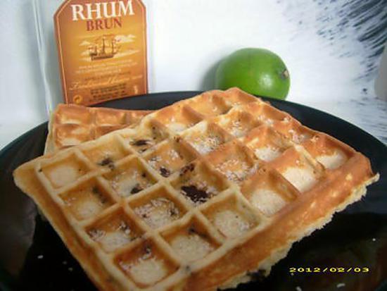 recette gaufres aux pépites de chocolat au doux parfum des îles (chandeleur)